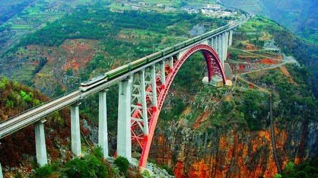 stunning railway bridge in india